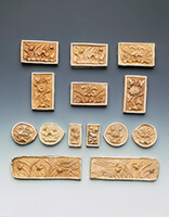 Set of 14 gold belt plaques